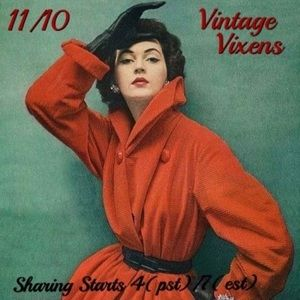 Accessories - TUESDAY 11/10 Vintage Vixens Sign Up Sheet